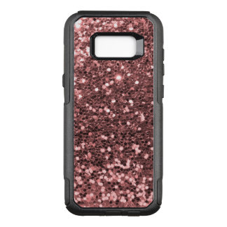 Rose Gold Faux Glitter Sparkle Shine Print OtterBox Commuter Samsung Galaxy S8+ Case