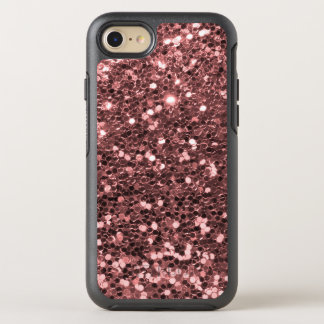 Rose Gold Faux Glitter Sparkle Shine Print OtterBox Symmetry iPhone 8/7 Case