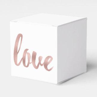 Rose gold favor box favour box