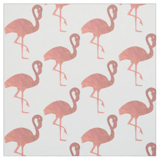 rose gold flamingo pattern fabric