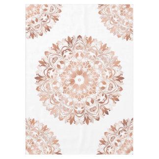 Rose Gold Floral Mandala Tablecloth