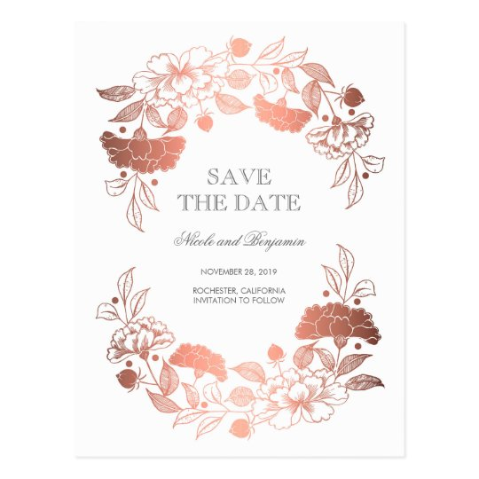 Rose Gold Floral Wreath | Peonies Save the