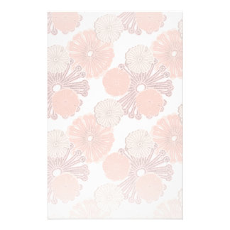 Rose Gold Flower Pattern Stationery