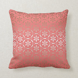 Rose gold flower pillow