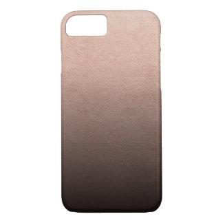 Rose Gold Foil Black Ombre Background iPhone 8/7 Case