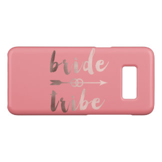 rose gold foil bride tribe arrow wedding rings Case-Mate samsung galaxy s8 case
