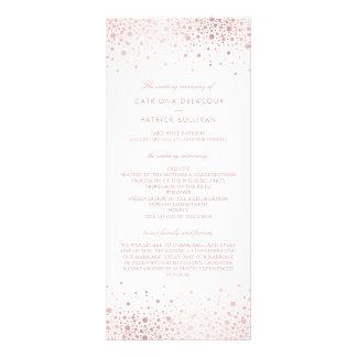 Rose Gold Foil Confetti Elegant Wedding Programs I Rack Card