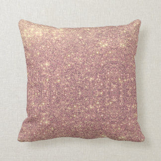 Rose Gold Galaxy Faux Space Sparkle Cushion