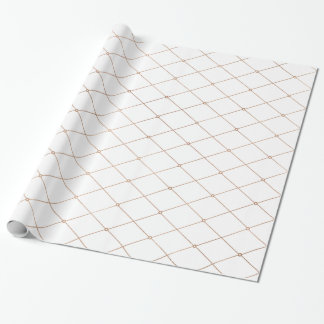 Rose Gold Geometric Diamond Pattern Wrapping Paper