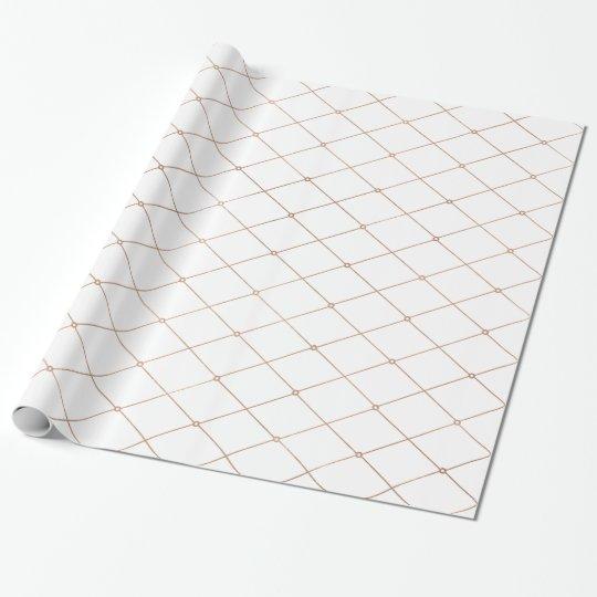 Rose Gold Geometric Diamond Pattern Wrapping Paper