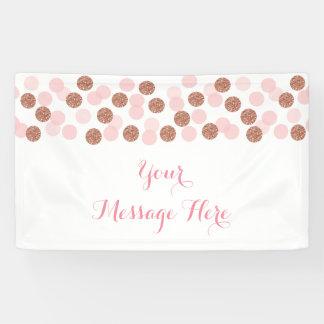 Rose Gold Glitter Baby Shower Banner