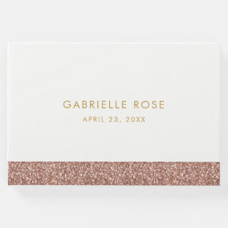 Rose Gold Glitter Birthday / Mitzvah Guest Book
