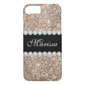 Rose Gold Glitter Black Case-Mate iPhone 7 Case