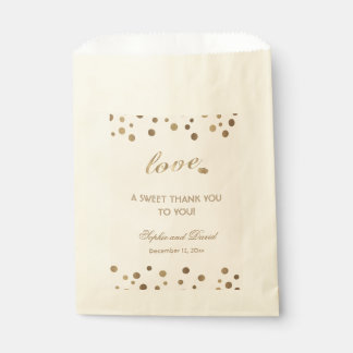 Rose Gold Glitter Champagne THANK YOU Wedding Favour Bags
