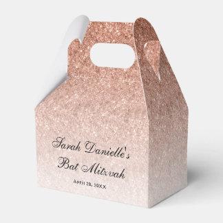 Rose Gold Glitter Custom Favor Favour Box