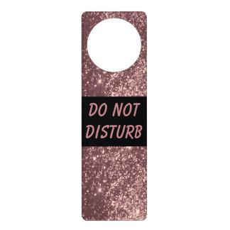 Rose Gold Glitter  | Do Not Disturb Sign