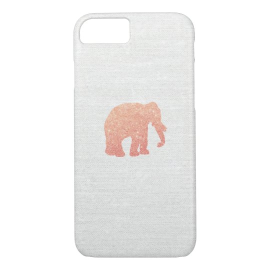 Rose Gold Glitter Elephant iPhone 8/7 Case