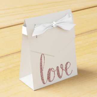 Rose gold glitter favor boxes favour boxes