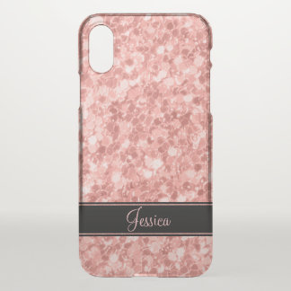 Rose Gold Glitter iPhone X Case