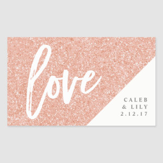 Rose Gold Glitter Mini Champagne, Mini Wine, Label