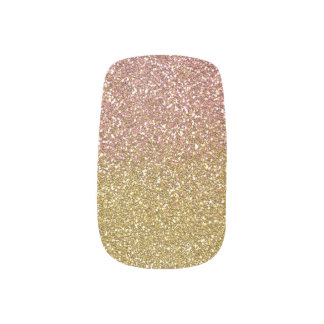 Rose Gold Glitter Nail Design Minx Nail Art