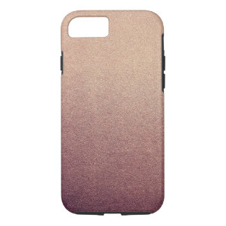 Rose Gold Glitter Sand Visual Texture Ombre Light iPhone 8/7 Case