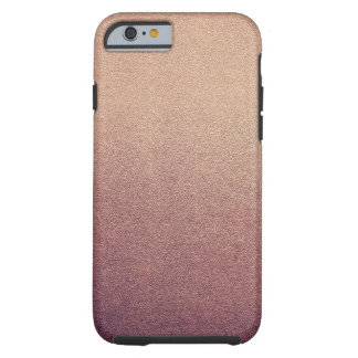 Rose Gold Glitter Sand Visual Texture Ombre Light Tough iPhone 6 Case