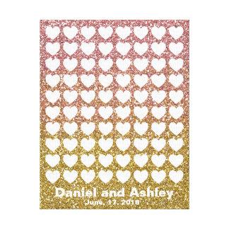 Rose Gold Glitter Signature Fingerprint Guestbook