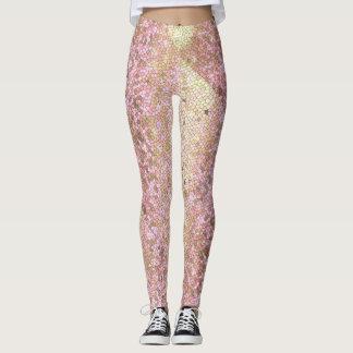 Rose Gold Glitter Sparkly Bling Fashion Yoga Pants