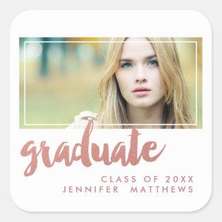 Rose Gold Graduate | Graduation Party Sticker