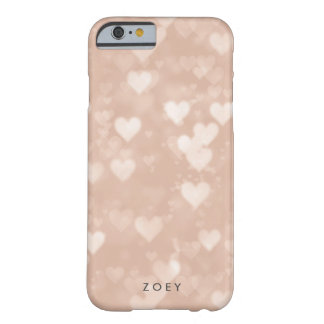 Rose Gold Heart Bokeh Barely There iPhone 6 Case