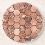 Rose gold hexaglam coasters