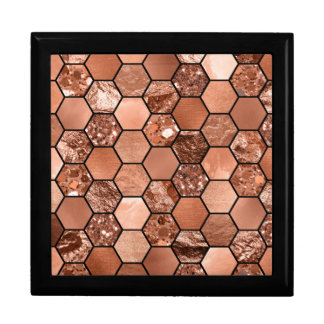 Rose gold hexaglam gift box