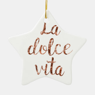 Rose gold La Dolce Vita Ceramic Star Decoration