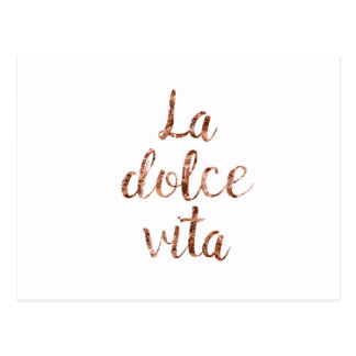 Rose gold La Dolce Vita Postcard