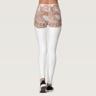 Rose Gold Lace Girdle Shorts Leggings