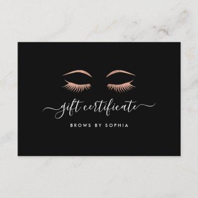 lash extensions salon gift certificate zazzlecouk - Eyelash Extension Gift Certificate Template