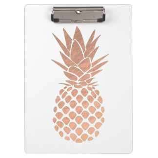 rose gold leaf pineapple look clipboard