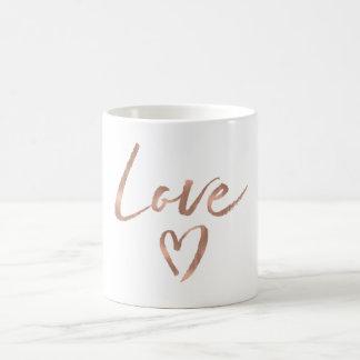 Rose Gold Love Heart Coffee Mug