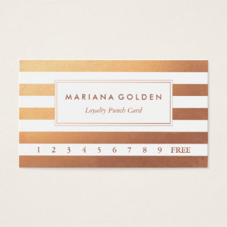 Rose Gold Loyalty Business Punch Card
