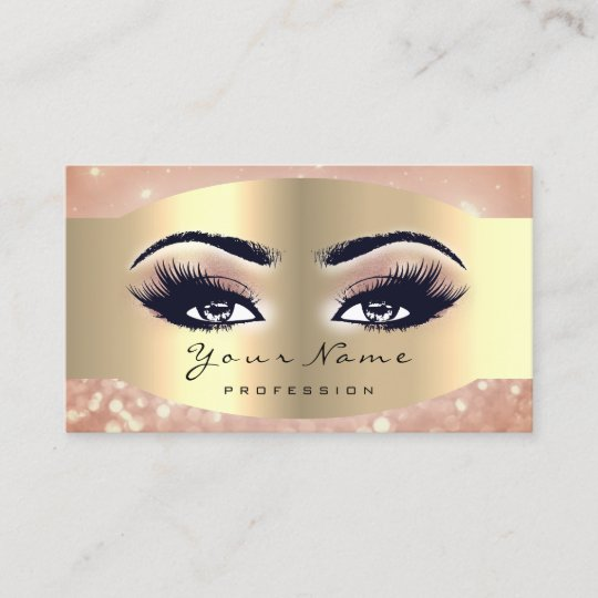 dfd9f253461 Rose Gold Makeup Artist Lash Black Eyes Blush Appointment Card |  Zazzle.co.uk