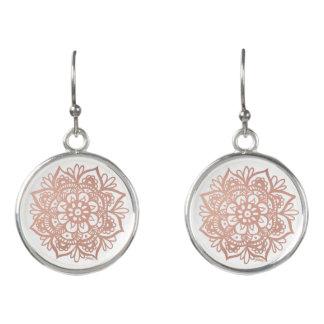 Rose Gold Mandala Earrings