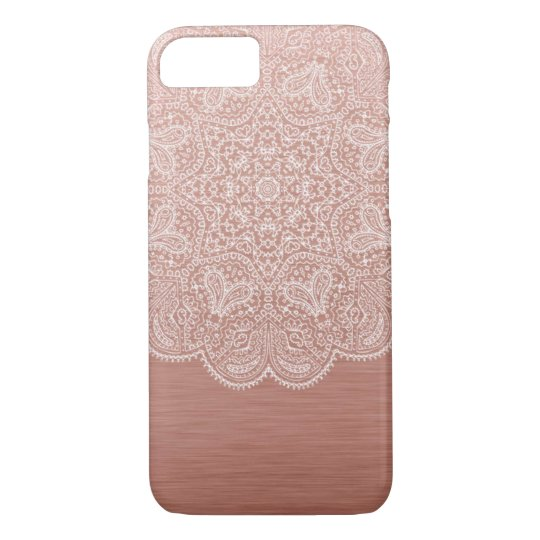 Rose Gold Mandala iPhone 7 Case