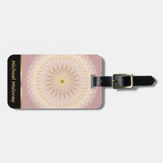 Rose Gold Mandala Luggage Tag