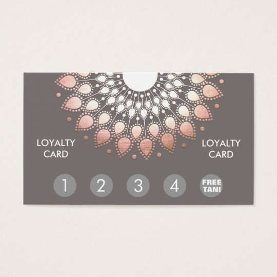 Rose Gold Mandala Spray Tan Loyalty Punch Business