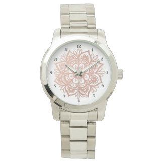 Rose Gold Mandala Watch