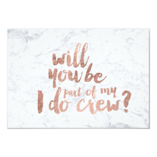 Rose gold marble I do crew Card