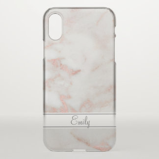 Rose Gold Marble iPhone X Case