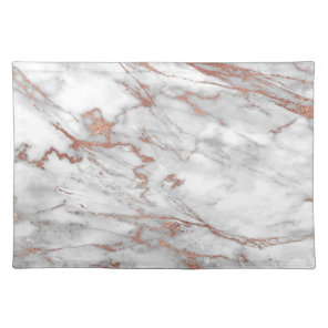 Rose Gold Marble Placemats