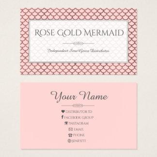 Rose Gold Mermaid LipSense Makeup artist Business Card